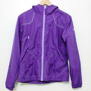 Columbia girls' purple rain jacket
